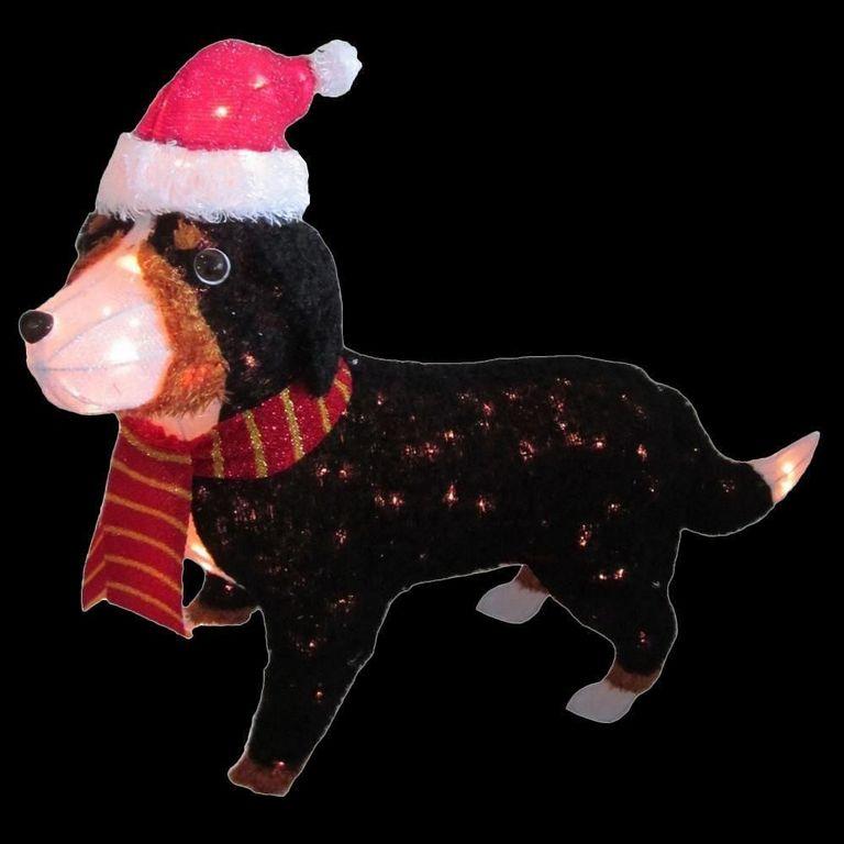 Bernese Mountain Dog Outdoor Christmas Decoration