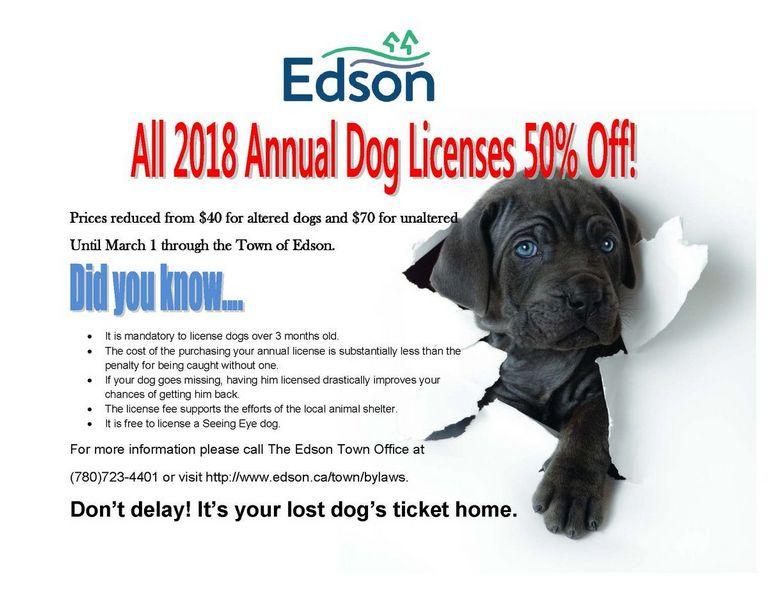 Dog License Cost